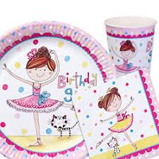 ballerina party supplies birthday girl ballet party supplies ballet party tableware