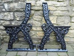 Church Pew Style Bench Cast Iron Church Pew Bench Ends 4 Pairs In Stock Cast Iron