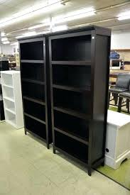 Espresso Bookcase With Doors 5 Shelf Bookcase Espresso Furniture Metal Frame Leaning Bookcase