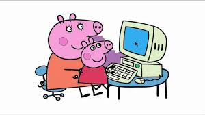 peppa pig and computer coloring pages 2016 youtube