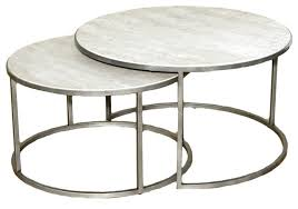 travertine top coffee table best hammary silver metal round nesting coffee tables travertine top