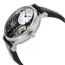 breguet tradition gmt manual silver skeleton dial men u0027s watch