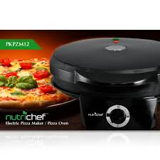 amazon com nutrichef pkpzm12 pizza maker pizza oven black