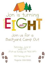 Backyard Birthday Party Invitations by 109 Best Party Camping Images On Pinterest Camping Theme