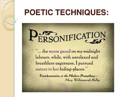 personification in poetry presentation