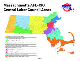 Lowell Massachusetts Map by Central Labor Councils Massachusetts Afl Cio