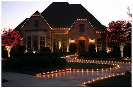 cool light display lighted driveway