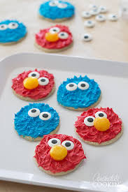 cookie monster elmo cookies perfect sesame street birthday