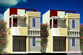 house front design cute flat roof indian home elevation sq ft