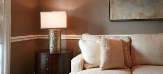 Desk Molding White Sofa And Unique Desk Lamp On Round Nightstand Also White