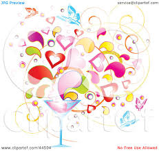 martini clipart no background clipart illustration of a background of colorful splashes hearts