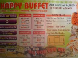round table pizza santa ana happy buffet menu menu for happy buffet santa ana orange county