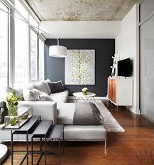 hellgraues sofa wohnzimmer akzentwand schwarz hellgraues ecksofa einrichtung