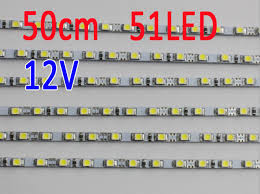 dc led strip lights 50cm 4mm wide 51led 12v dc utra slim rigid led strip lights lightbox