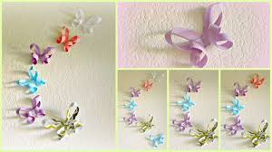 Decorate Room With Paper Diy Room Decor 3d Paper Butterflies Youtube