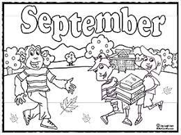 September Coloring Sheets And Activities Back To School Coloring Pages For September