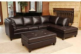 High End Leather Sectional Sofa Abbyson Living Top Grain Leather Sectional And Cocktail