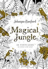 magical jungle 36 postcards colour send johanna basford