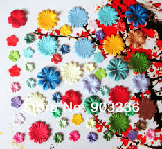 aliexpress com buy 60pcs lot mixed craft paper flowers for