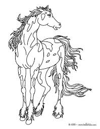 online coloring page relaxing horse coloring pages hellokids com