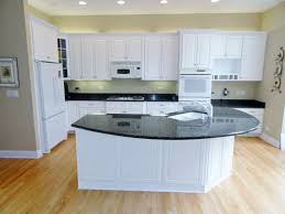Kitchen Cabinet Refacing Ideas Decor Cozy Lowes Wood Flooring With Curved Countertop And White