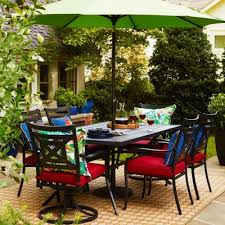 Patio Dining Set With Umbrella Shop Patio Furniture At Lowes