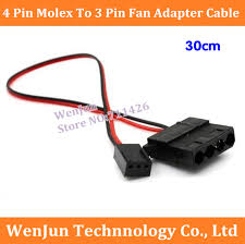 cpu fan 4 pin to 3 pin free shipping new 30cm computer fan 4 pin molex female to 3 pin