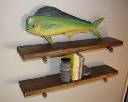 Floating Wooden Shelves by Reclaimed Wood Shelf Etsy