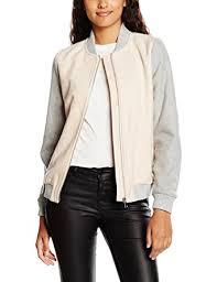new look women u0027s khloe contrast bomber jacket amazon co uk clothing