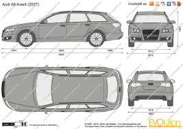 2007 Audi Avant The Blueprints Com Vector Drawing Audi A6 Avant