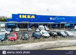 ikea parking lot ikea store sign leeds birstall retail park batley uk england stock