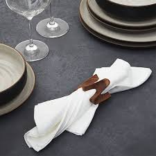 crate and barrel napkins viggo wood napkin ring in napkin rings place card holders