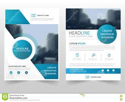 business report template blue circle technology business brochure leaflet flyer annual royalty free vector