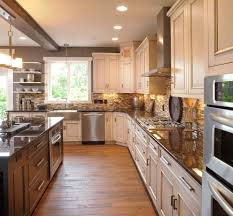 dc metro white washed cabinets kitchen rustic with open shelves