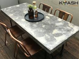 concrete dining room table polished concrete dining table patio outdoor industrial look