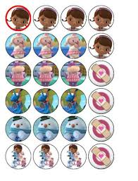 doc mcstuffins cupcake toppers 24 disneys doc mcstuffins cupcake toppers co uk kitchen