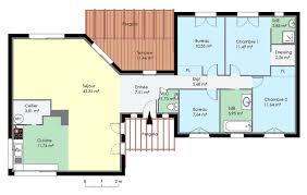 plan plain pied 5 chambres plan de maison contemporaine de plain pied plans maisons con maison