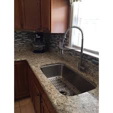 hahn stainless steel sink hahn chef series stainless steel extra large single bowl kitchen