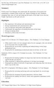 Stagehand Resume Examples by Professional Tour Manager Templates To Showcase Your Talent