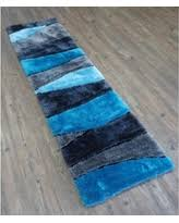 amazing deal on beautiful shaggy rug runner featuring colorful
