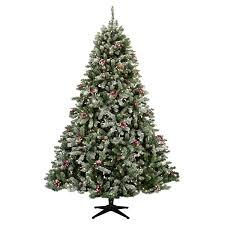 decorating interesting fir flocked christmas tree design ideas