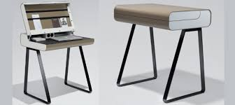 Compact Secretary Desk Muller Steel Furniture From Ultra Modern