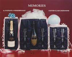 Engrave Gifts Etched Champagne Bottles U0026 Gifts Sets Engrave A Remembrance Inc