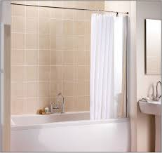 L Shape Curtain Rod L Shaped Shower Curtain Rod Without Ceiling Support Curtain