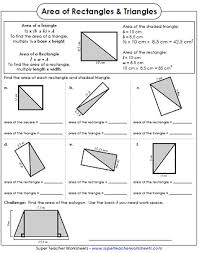 area of rectangles worksheets