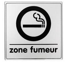 pictogramme chambre pictogramme plexi classique argent zone fumeur