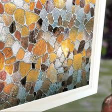 rock home decor static window films color rock 3 meters pvc films glass sticker