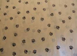 paw print tissue paper party supplies