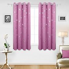 Curtains 46 Inches Deconovo Foil Printed Thermal Insulated Ready Made Curtains