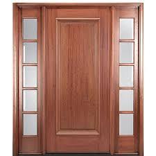 3 Panel Exterior Door Mai Doors Dlt22ap 1 2 Square Top Single Panel Exterior Door In